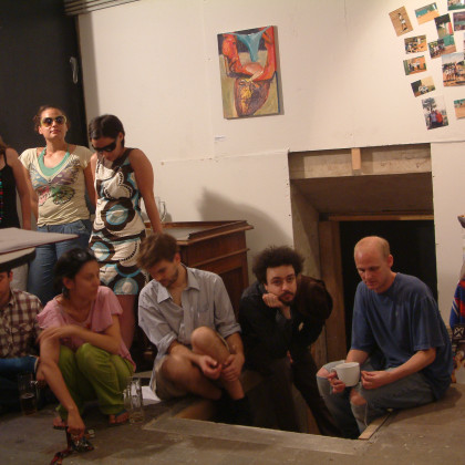 photo: Unknown - exhibition opening @ Chinese Characters Contemporary Art Space (2008) /1