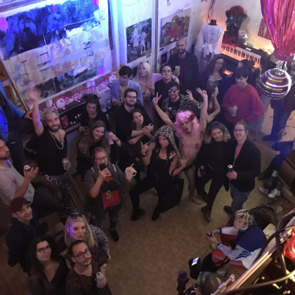 photo: Gergő Andorka - opening party of GRIFF ART CENTER, Budapest (2019)